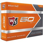 Wilson Staff 2015 50 Elite Golf Balls, Orange, Prior Generation, 72 Pack