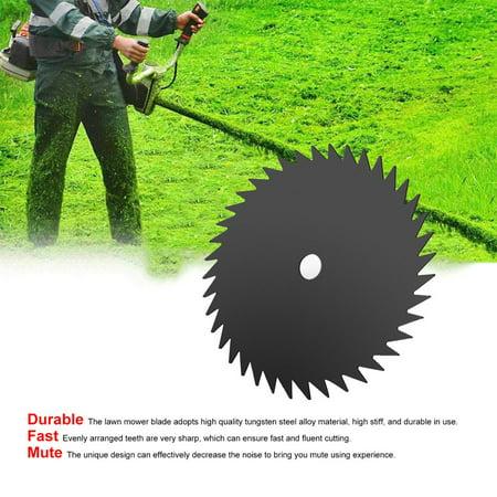 Lawn Mower Blade Circular Grass Cutter Brush Saw Blade Manganese Steel Razor Lawn Machine Accessories Trimmer 80/60/40/8/4/3T - image 9 de 9