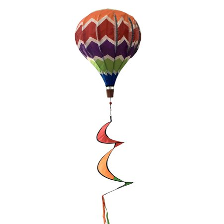 multi-color deluxe hot air balloon wind twister everyday 54