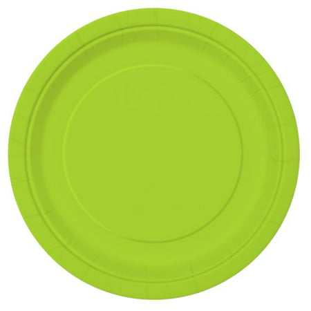 Paper Plates, 7 in, Neon Green, 20ct