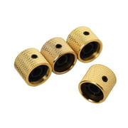 Suzicca 4pcs Metal Tone Control Knob Dome Knob Set with Inner Hexagon Spanner for Electric Guitar Bass