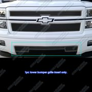 Compatible with 2014-2015 Chevy Silverado 1500 Stainless Steel Black Bumper Mesh Grille C75990H