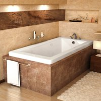 Atlantis Tubs 4272VNDR Venetian 42 x 72 x 23 - Inch Rectangular Air & Whirlpool Jetted Bathtub w/ Right Side Pump Placement
