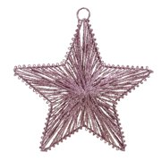 "Lynn Roberts 8"" Mauve Glittered 5-Point Star Christmas Ornament - Pink"