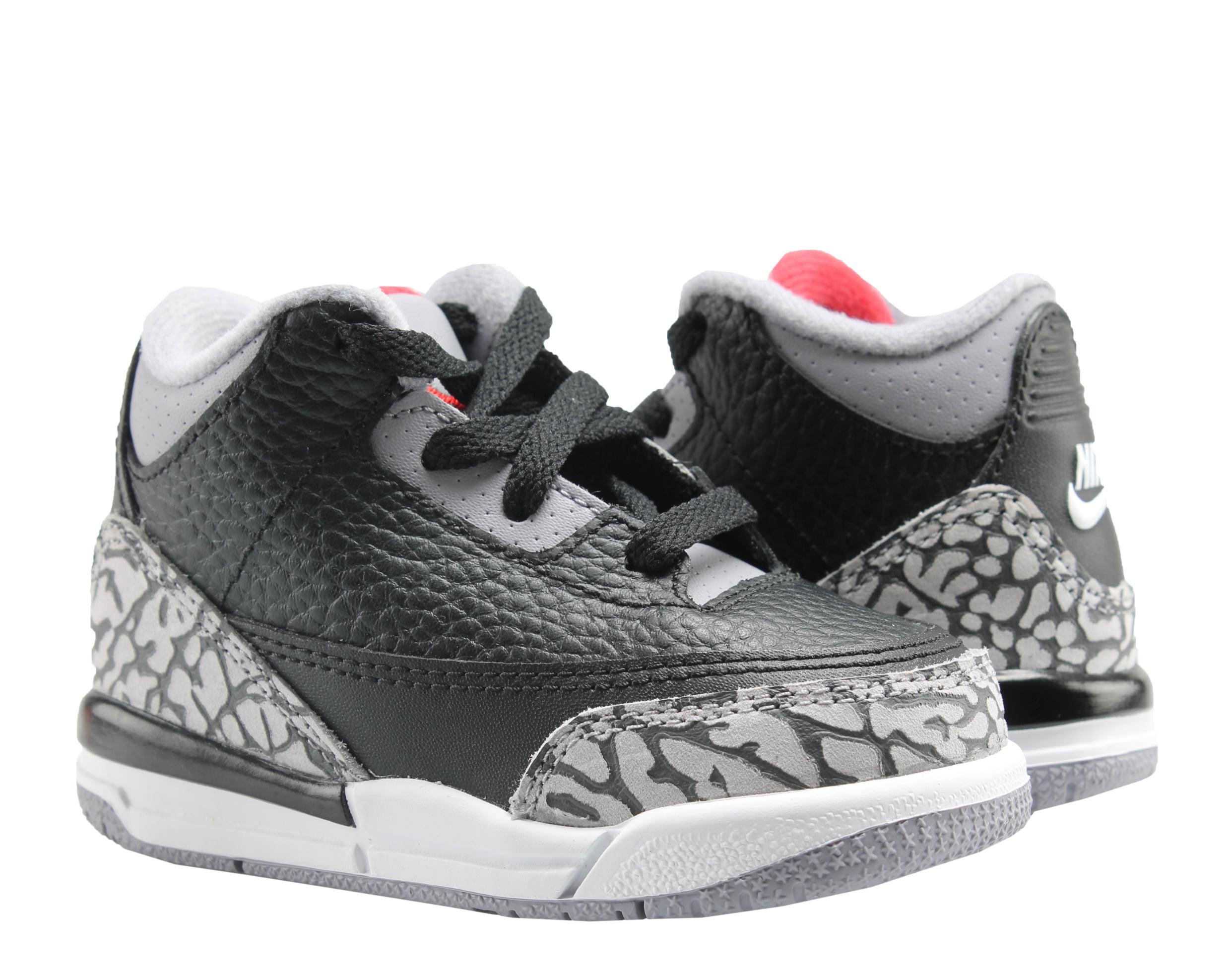 d6cfd285d18 ... wholesale nike air jordan 3 retro bt blk cement toddler kids basketball  shoes 832033 021 52562 ...