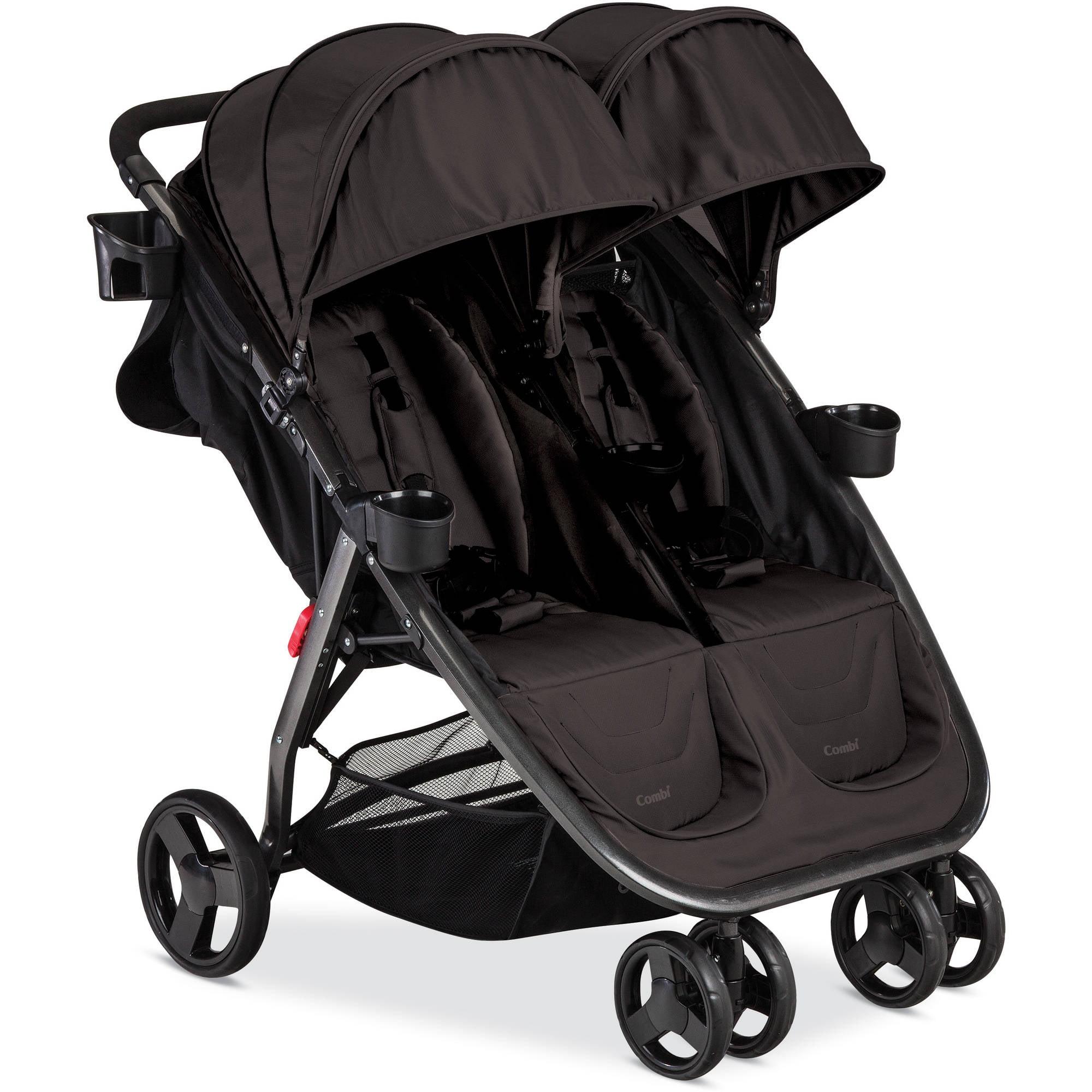 Supplier Generic Combi 2016 Fold N Go Double Stroller, Black
