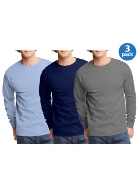 f0e6be7a6f30e Product Image mens tagless cotton crew neck long-sleeve tshirt