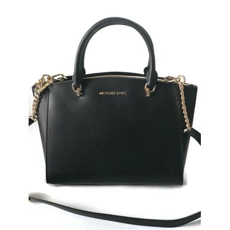 Michael Kors Ellis Las Large Leather Satchel Handbag 35h7ge0s3l001