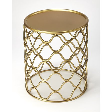 Butler Glendale Antique Gold Accent Table ()