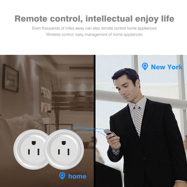 Mini WiFi Smart Remote Control Timer Plug Switch Outlet US Plug Home Devices by