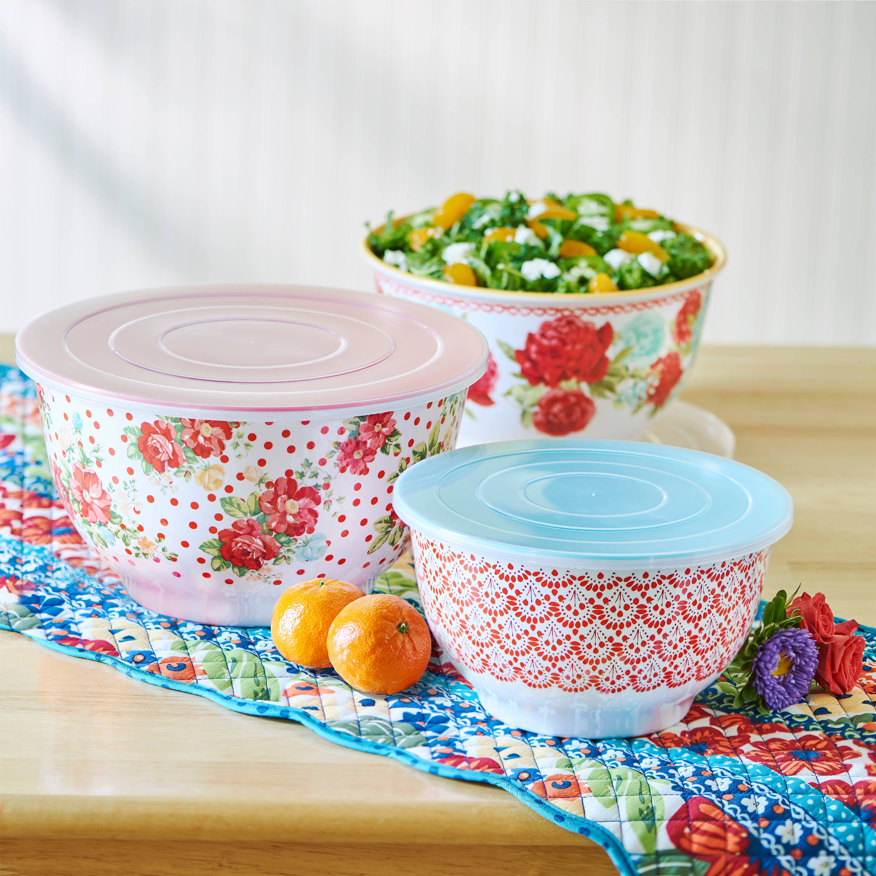 The Pioneer Woman Vintage Floral 6pc Bowl Set