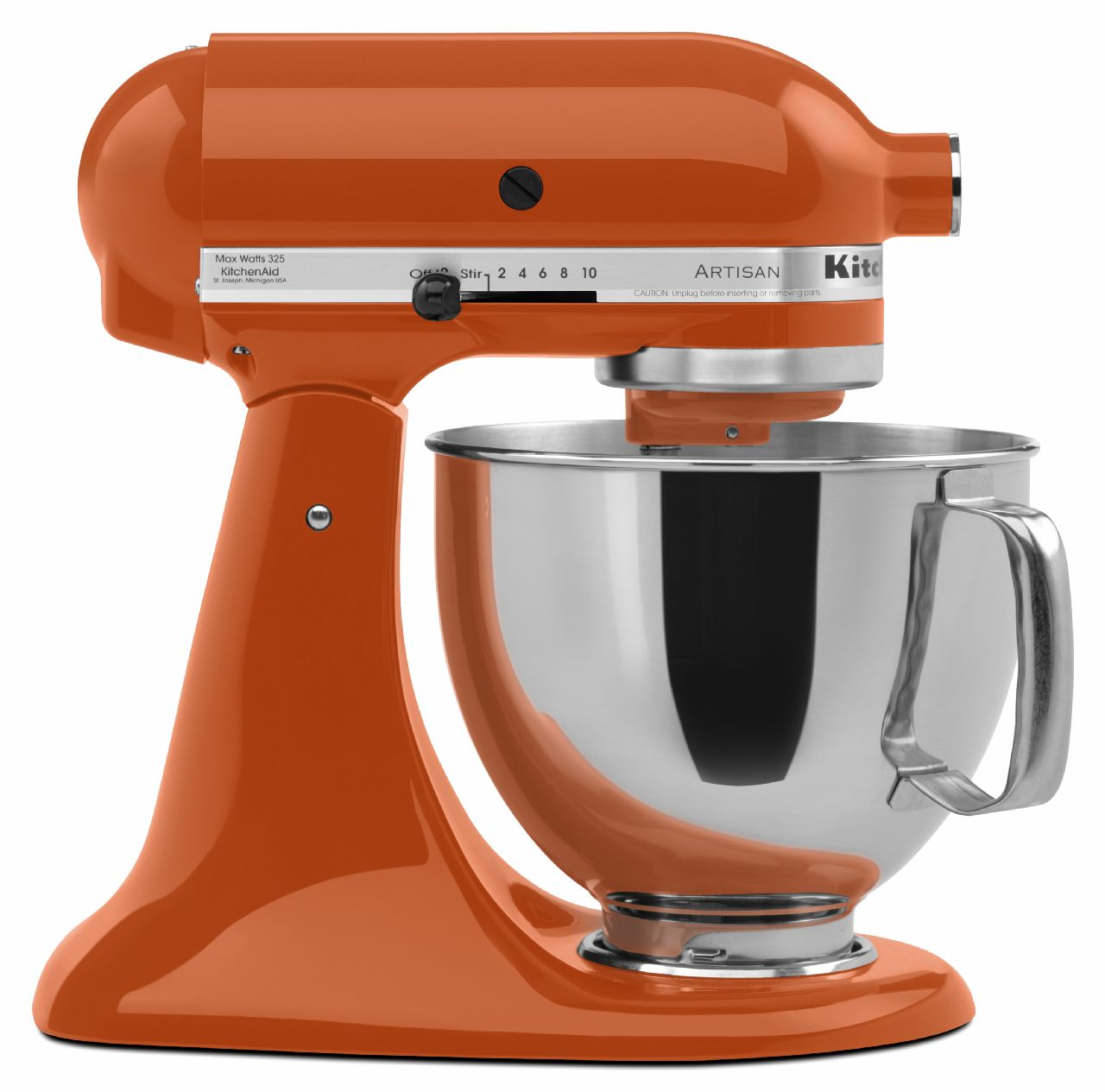 KitchenAid KSM150PSPN Artisan Series 5-Quart Stand Mixer, Persimmon