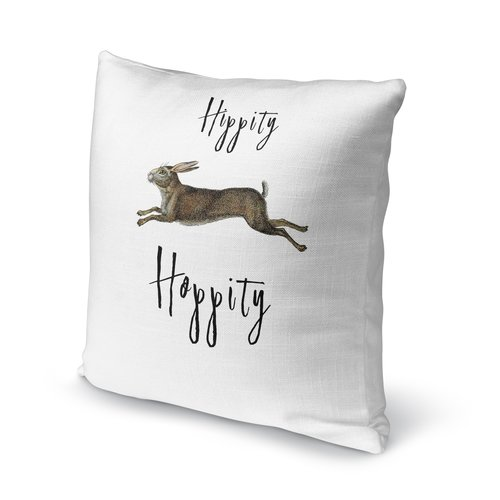 KAVKA DESIGNS Hippity Hoppity Throw Pillow