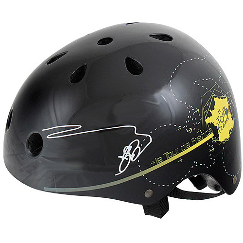 Tour de France Black Tour Freestyle Bike Helmet, Medium (54-58cm)