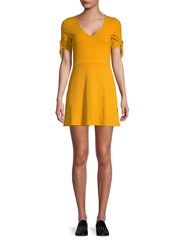 V-Neck Fit-&-Flare Dress