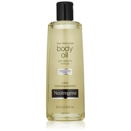 Neutrogena Body Oil Light Sesame Formula Fragrance Free 8