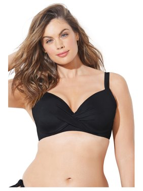 Swimsuits For All Women's Plus Size Dame Underwire Bikini Top