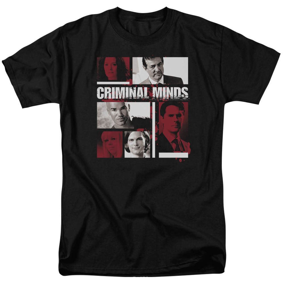 Criminal Minds Men's  Character Boxes T-shirt Black