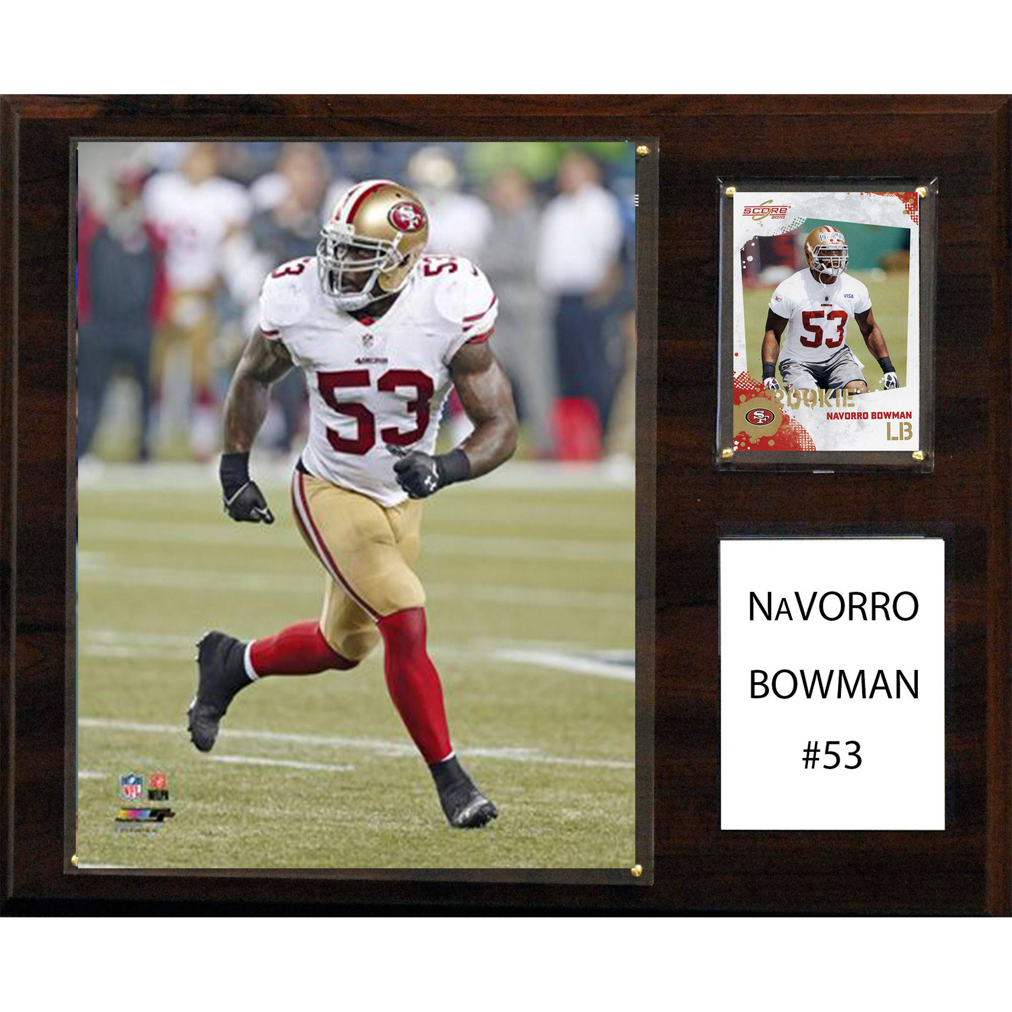 C&I Collectables NFL 12x15 NaVorro Bowman San Francisco 49ers Player Plaque