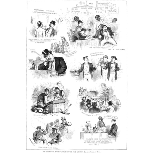 Centennial Fair 1876 Nsketches Of Visitors To The 1876