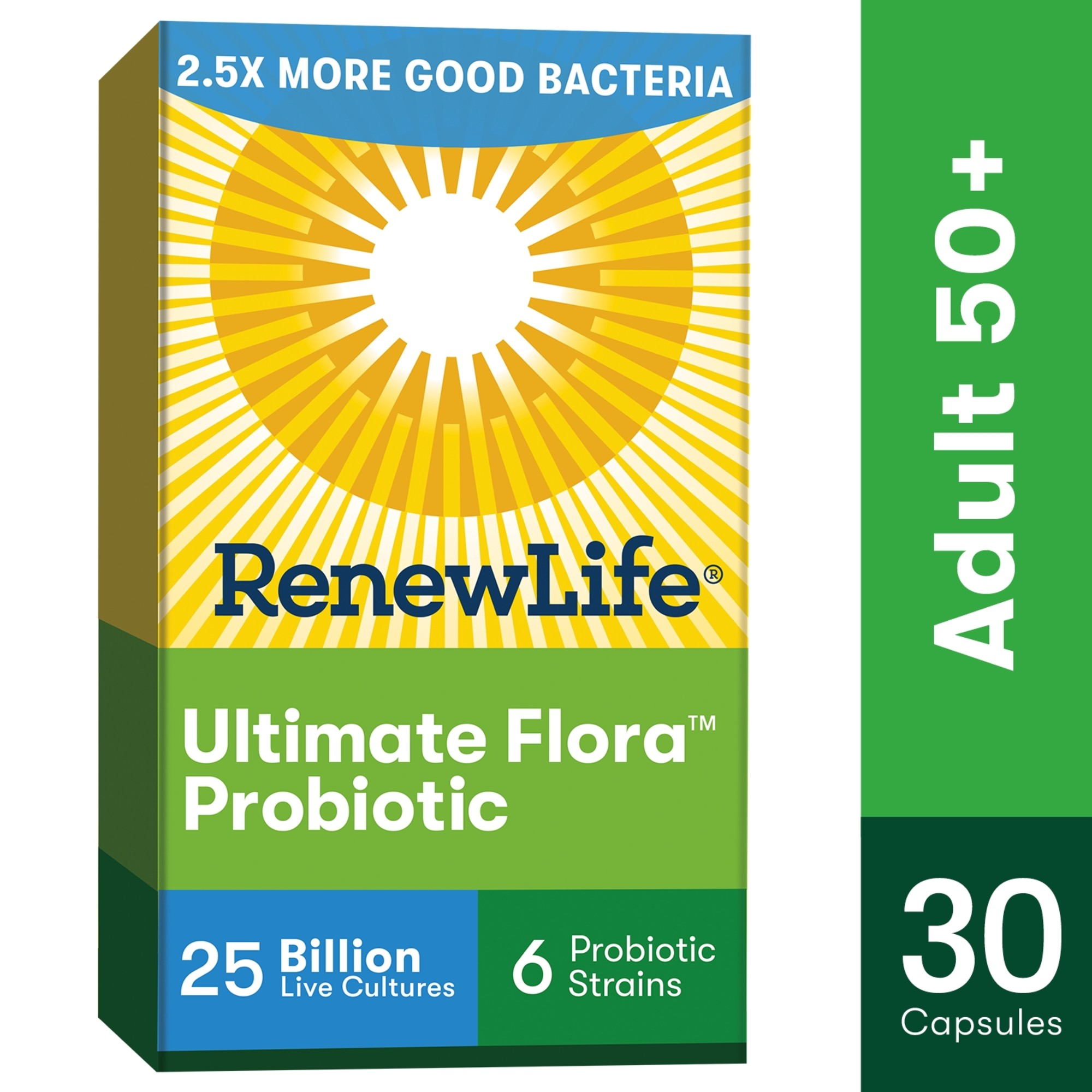 Renew Life Probiotic Ultimate Flora Adult 50 25 Billion