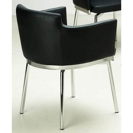 Black Arm Chairs (Club Style Swivel Arm Chair - Set of 2 (Black))