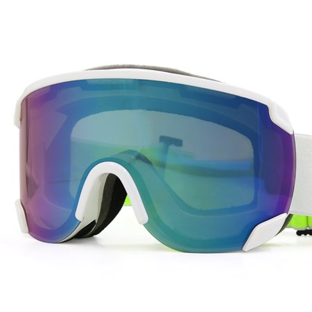 Voltage Otg Goggle - LY-100 Authorized Ski Snowboard Goggles OTG UV400 Proteciton White