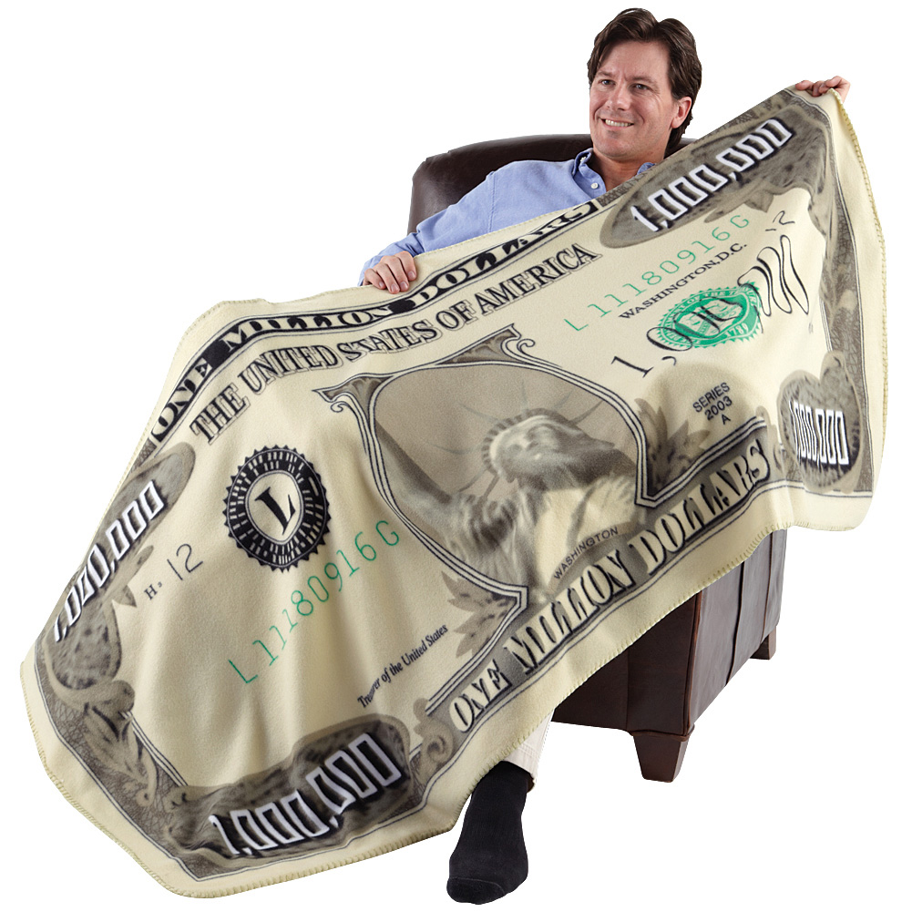 """Million Dollar Fleece 35"""" X 71"""" Throw Blanket For Bed, Couch Or Wall Décor"""