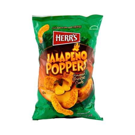 Herr's Jalapeno Popper Cheese Curls - 8.5 Oz. (3 Bags)
