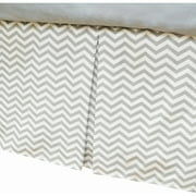 American Baby Company 100% Cotton Tailored Crib Skirt with Pleat, Blue, for Boys and Girls
