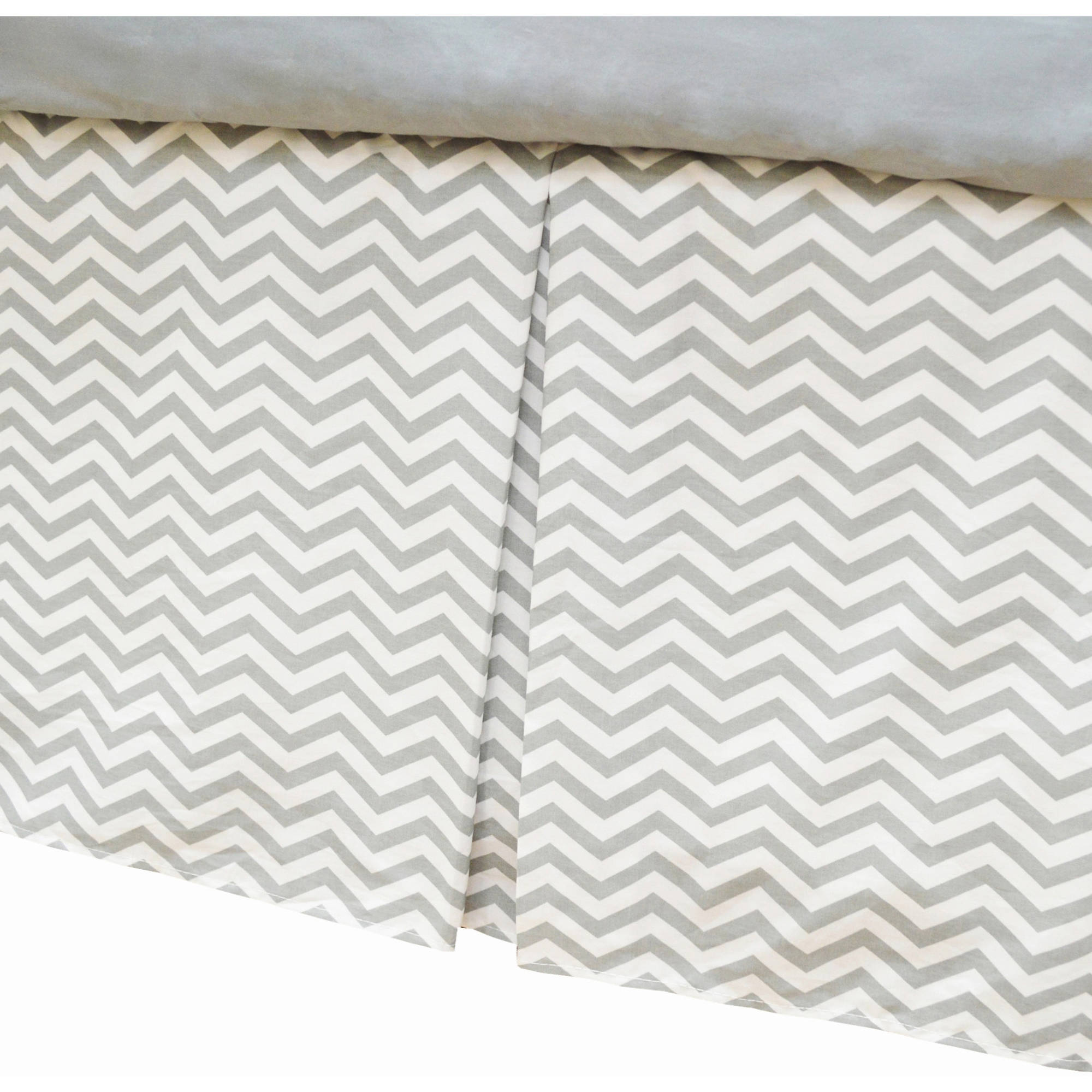 American Baby Company 100 Percent Cotton Tailored Bed Skirt with Pleat