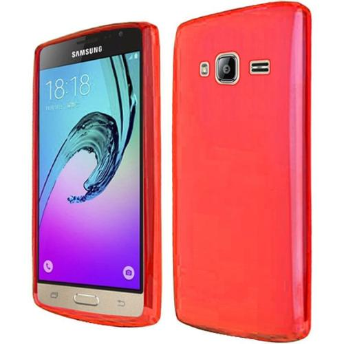 Insten Frosted Rubber Case For Samsung Galaxy J3 - Red