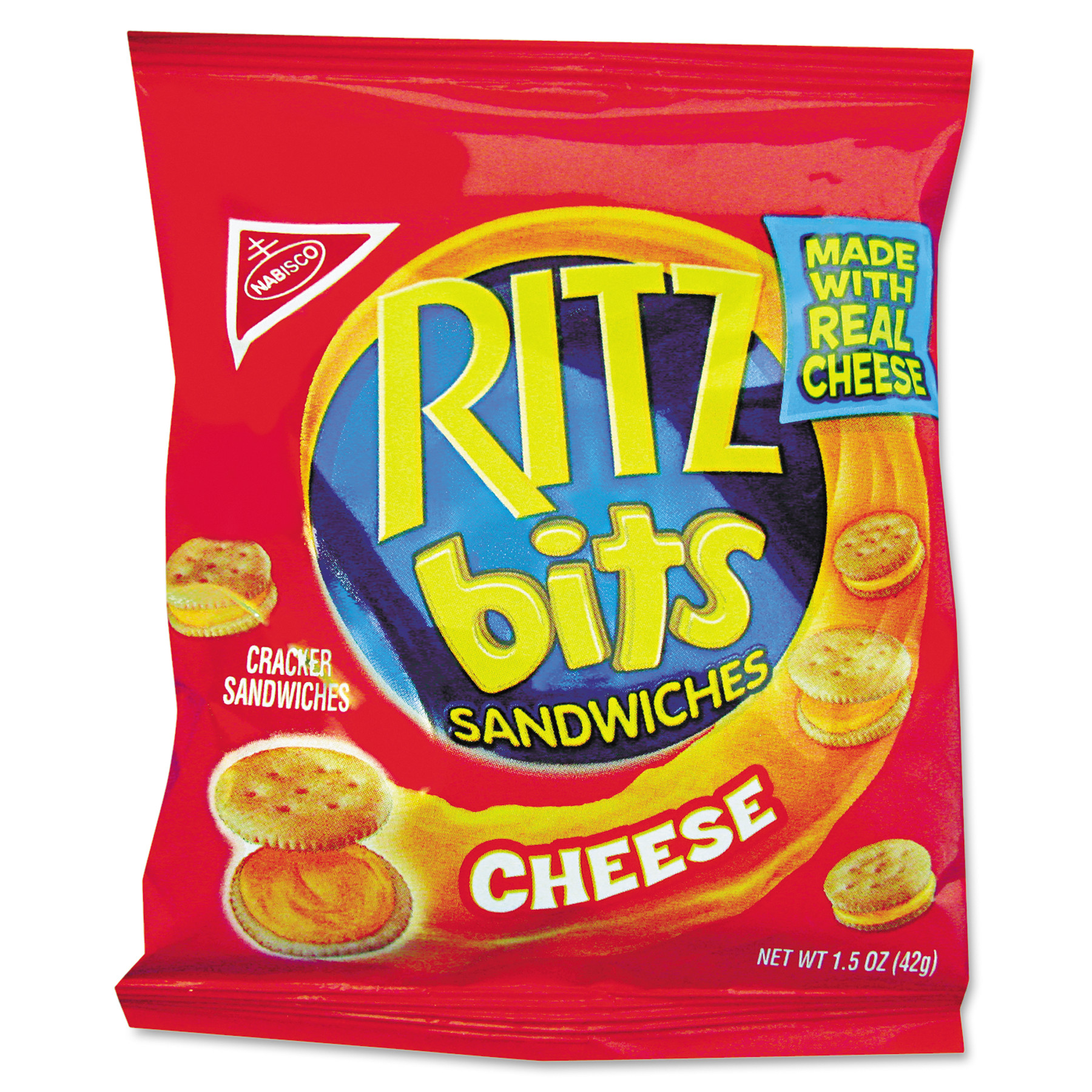 Nabisco Ritz Bits Cheese Cracker Sandwiches, 1.5 oz, 60 count
