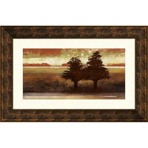 Pro Tour Memorabilia Sunset Trees Under Glass Print