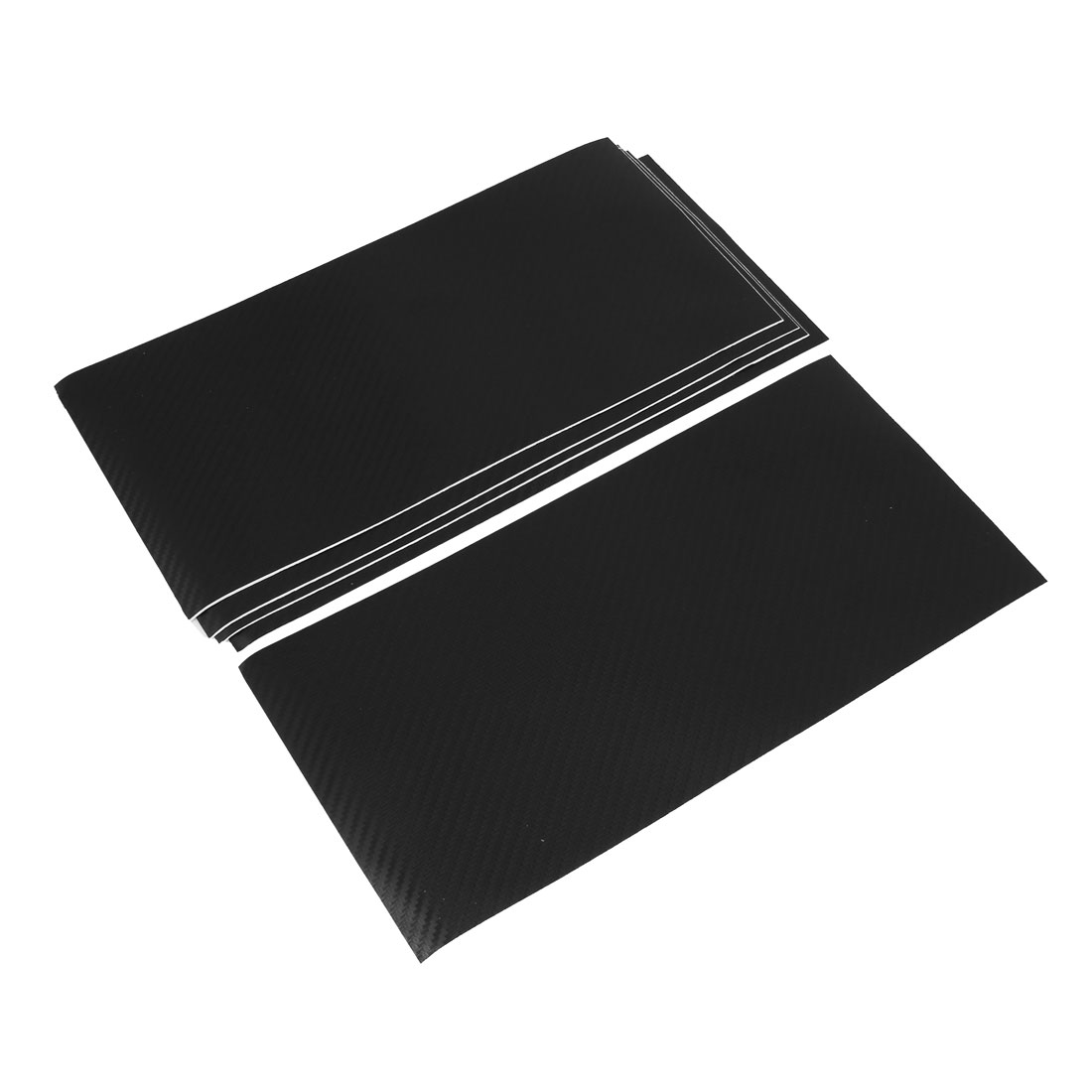 "5PCS 12"" x 5.6"" DIY Adhesive Texture Carbon Fiber Film Sticker Black for Auto"