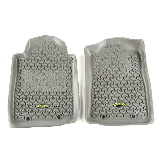 Outland Automotive Floor Liners, Front, Gray; 12-15 Toyota Tacoma 398490415