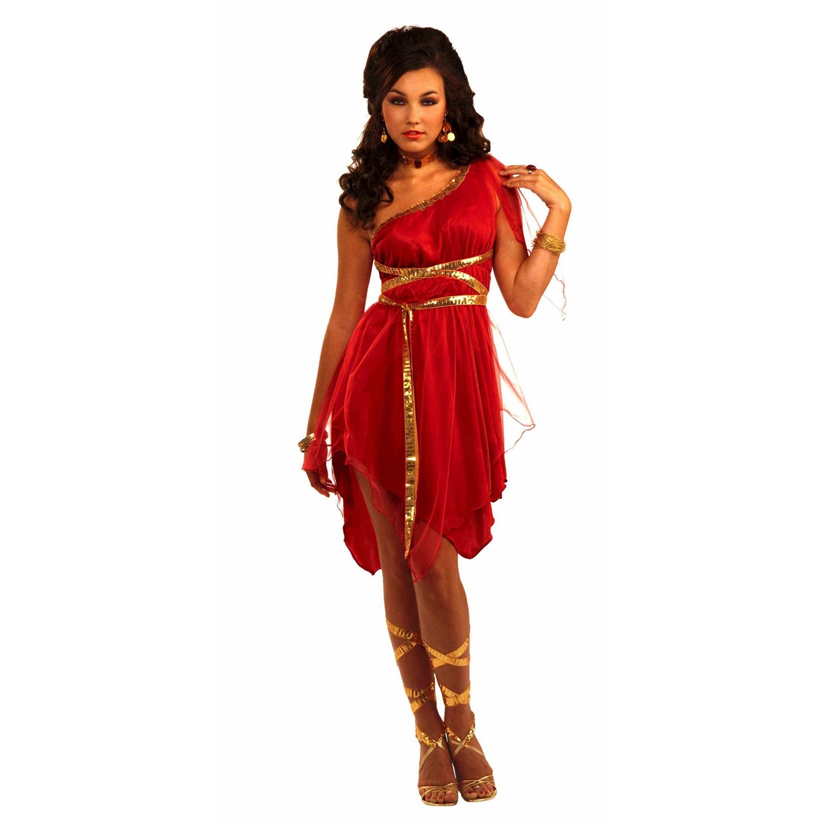 Womens Ruby Red Goddess Halloween Costume