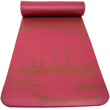 Peace Yoga Extra Thick Exercise Mat Red Mirage 189 Quot Inch