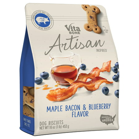 Vita Bone Artisan Inspired Maple Bacon & Blueberry Flavor Dog Treat