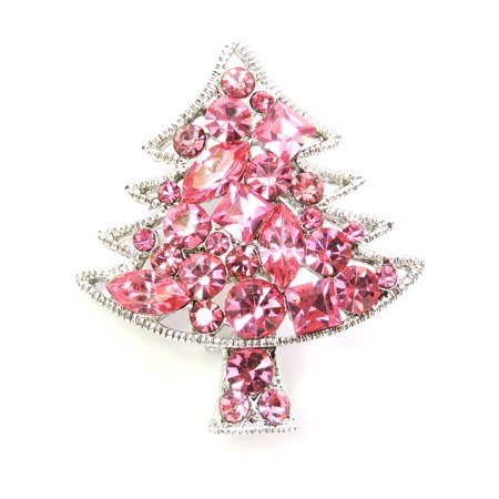 Rhinestone Crystal Christmas Tree Pin Brooch Crystal Rhinestone Christmas Tree Pin