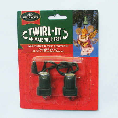 Twirl It Motor Pigtail Rotating Christmas Ornament Spinner Set of 2 - Christmas Ornament Spinners