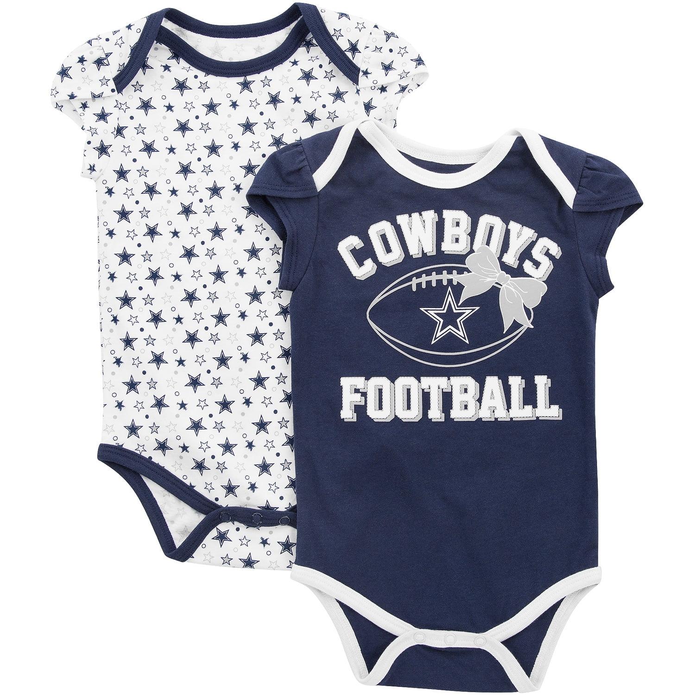Girls Infant Navy Dallas Cowboys Chrisleen Two-Pack Team Bodysuit Set -  Walmart.com 6f15c28fd