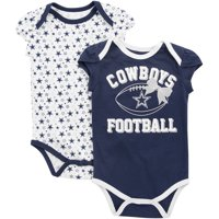 8f4727c62 Product Image Girls Infant Navy Dallas Cowboys Chrisleen Two-Pack Team  Bodysuit Set