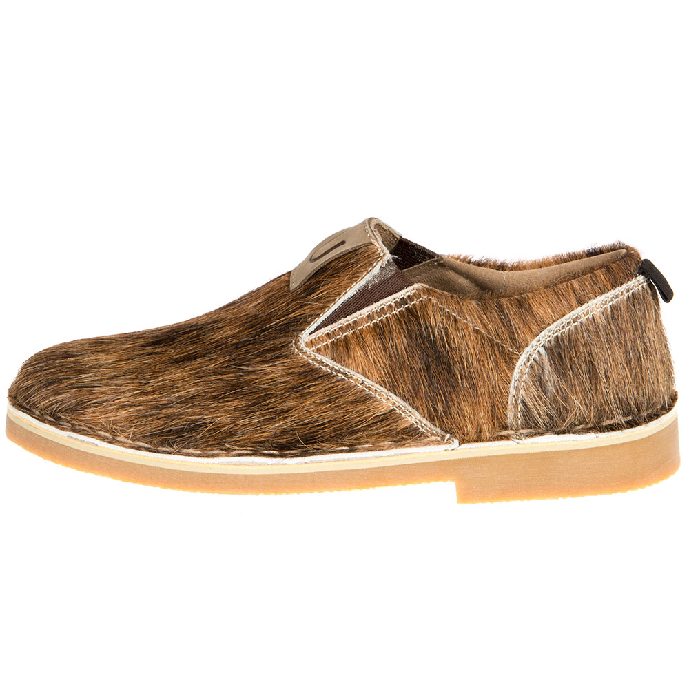Uwezo Brands Mens  natural hair on cowhide slip on shoes