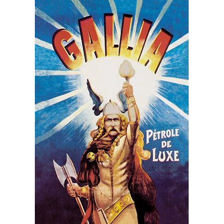 A mid- Gallic warrior mid- franc brandishes a flaming torch  which gives off a strong radiation He wears a winged helmet  a long braided blond hair  mustache  wears an animal skin  a belt and bracelet 3 Piece Mid Wing