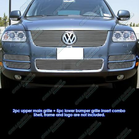 - 2003-2007 VW Touareg With Chrome Trim V8 Billet Grille Grill Combo Insert