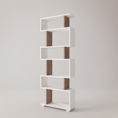 Bates Modern Bookcase 24 X 63 8 Shelving Unit Bookshelf