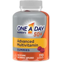 One A Day Womens 50+ Gummies Advanced Multivitamin with Brain Support, 110 Count