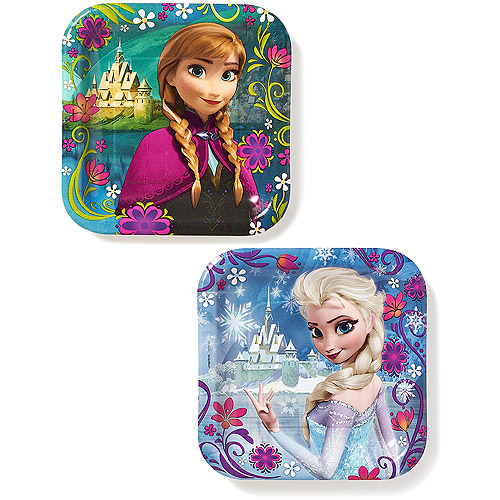 Frozen Party Paper Square Plates, 7 in, 8ct by American Greetings