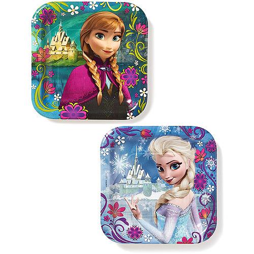 "Frozen 7"" Square Plates, 8 Count, Party Supplies"